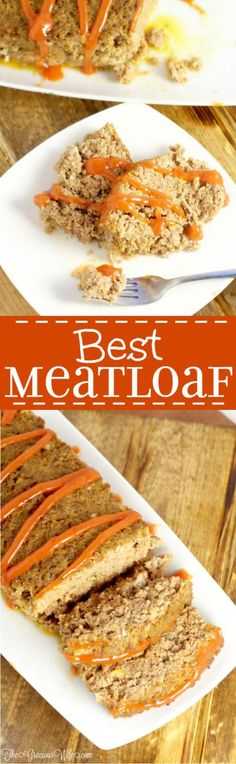 Best Meatloaf Recipe - an easy dinner recipe that's perfect for a family dinner.  This is one of my kids' favorite dinners! They get super excited every time I break out the ground beef!