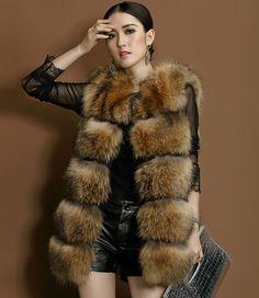 Plus Size S-XXXL Fur Jacket Women Autumn/Winter Fox Faux Fur Vest Pelliccia Fur Gilet Long Fox Fur Coat Ladies Faux Fur Coat Hot