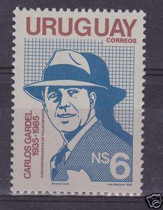 Uruguay Stamp Carlos GARDEL Most Famous Tango Music Singer