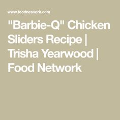 Buffalo chicken dip recipe trisha yearwood food network food barbie q chicken sliders recipe trisha yearwood food network forumfinder Choice Image