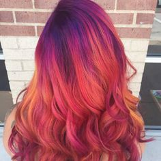 Give yourself darker purple roots to get a real dark sky look.