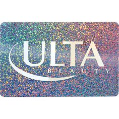 ULTA Gift Card: Beauty, Skin Care, Fragrance, Cosmetics, Hair, Salon & more  ...ah, heaven. also, I want a sparkly card!