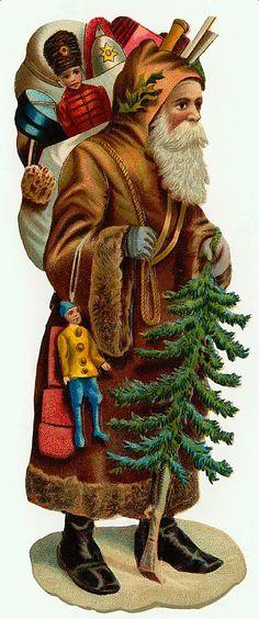 Père Noël Vintage 216, Fonds d'écran gratuits, écran Cool