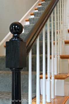 Painting Oak Newel Posts Black