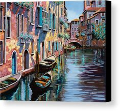 Venezia In Rosa Canvas Print by Guido Borelli. All canvas prints are professionally printed, assembled, and shipped within 3 - 4 business days and delivered ready-to-hang on your wall. Choose from multiple print sizes, border colors, and canvas materials.