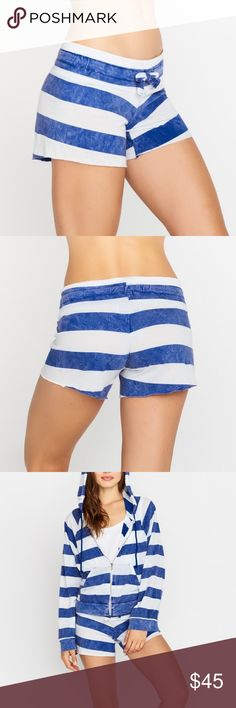 WILDFOX Rugby Striped Shorts Super cute, light weight wildfox shorts that are new with tags! 15 inch waist area with 4.5 inch inseam. Wildfox Shorts