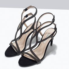 HIGH HEEL SANDALS WITH CHAIN DETAILS-Shoes-Woman-SHOES & BAGS | ZARA United States