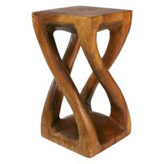 Twist End Table. a little ethnic a little modern a little warm a little cool