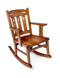 Antiques Chairs Creative Old 19th C Antique Victorian Pierced Plywood Child Rocking Chair American Made Yet Not Vulgar