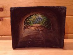 Light at the End of the Tunnel Train tracks by CozyCabinWorkshop