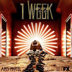 """American Horror Story Hotel """"Get comfortable. #AHSHotel premieres in 1 WEEK. #americanhorrorstory #americanhorrorstoryhotel #AHSFX #AHS"""""""