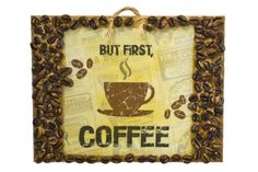 Retro Style Wall Art, But First Coffee, Bar Decor, Kitchen Decor, Café Decor, Coffee Lovers Gift, Coffee Art, Coffee Beans