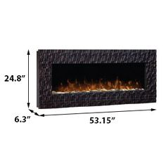 Wakefield Linear Wall Mount Electric Fireplace - DWF-1318