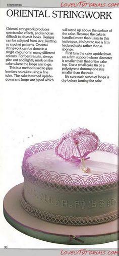 Зонтик из Айсинга МК- Lacework Royal Icing Parasol tutorial - Мастер-классы по украшению тортов Cake Decorating Tutorials (How To's) Tortas Paso a Paso