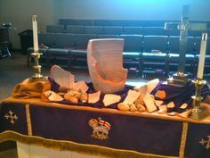 This is amazing! Each week the altar transforms a little bit.