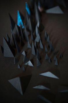the black ones - Agnès Cappadoro - Paper Art Work