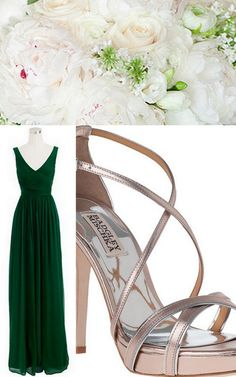Style Inspiration and Design Emerald Bridesmaid Dress Inspiration - Lisa Sammons Events