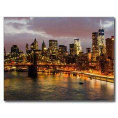 Postcard Manhattan Bridge, New York USA Cartes Postales