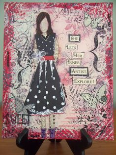 teresa jaye is here to play!: Mixed Media Art for sale