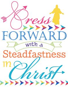 "Free downloads of the 2016 Mutual Theme ""Press Forward..."", including two different sizes and backgrounds. Perfect way to get ready for the new year!"