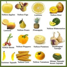 Yellow foods for the solar plexus chakra!