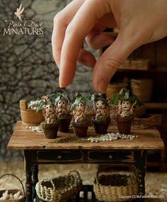 beautiful creative wizardry-themed miniatures -- check out these mandrakes