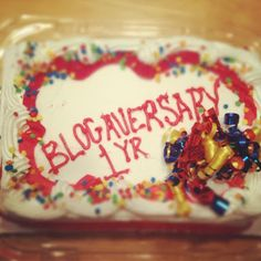 blogaversary cake!
