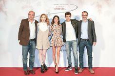 Juan Pablo Buscarini, Roberto Manni, Jorge Blanco, Martina Stoessel, and Mercedes Lambre at Tini: Depois de Violetta (2016)