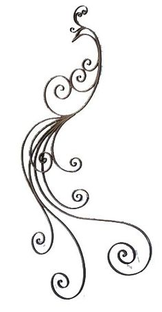 Iron Scroll Wall Art - Ideas on Foter Peacock Sketch, Peacock Drawing, Peacock Tattoo, Peacock Art, Mandala Tattoo, Henna Tattoos, Body Art Tattoos, Tatoos, Quilling Patterns