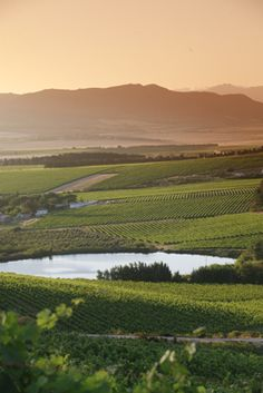 The views from Paardeberg towards Paarl mountain. Places Around The World, Around The Worlds, South African Wine, Pretoria, A Day In Life, African Beauty, Holiday Destinations, Wine Country, Cape Town