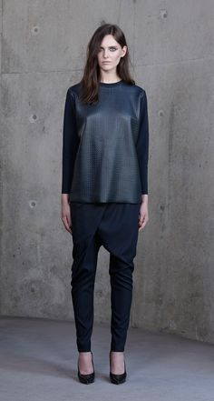 Scanlan Theodore Textured Leather Sweat
