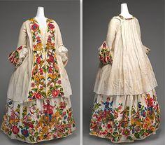 history of fashion 1720-1779
