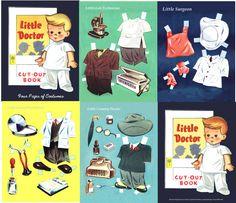 Little Doctor, Lilja 1947 Cut Out Paper Book
