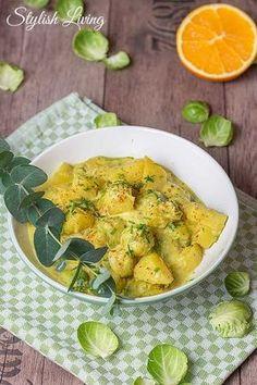 Kartoffel-Rosenkohl-Curry mit Kokosmilch