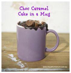 Choc Caramel Cake in a Mug | Stay at Home Mum