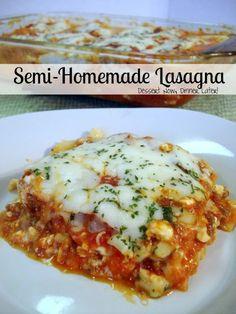 Semi-Homemade Lasagna #recipe #lasagna #easy
