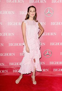 Alicia Vikander Strappy Sandals - Alicia Vikander opted for simple styling with a pair of off-white ankle-strap heels.