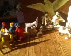 Natural toys wool felt animals role play Waldorf eco by Felthorses Unique Presents, Unique Gifts, Spiritual Paintings, Felt Gifts, Travel Toys, Natural Toys, Waldorf Toys, Role Play, Kindergarten