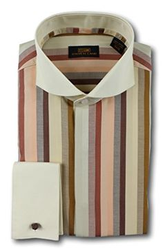 Steven Land Dress Shirt 100% Cotton DW603 Brown Style Ste...