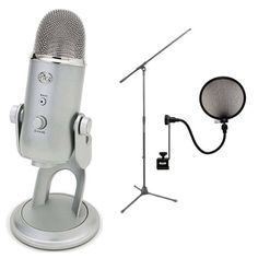 Blue Microphones Yeti USB Condenser Microphone with On Stage Boom Microphone Stand & Pop Filter Blue http://www.amazon.com/dp/B00474PAAK/ref=cm_sw_r_pi_dp_QzFJub1FYHS87