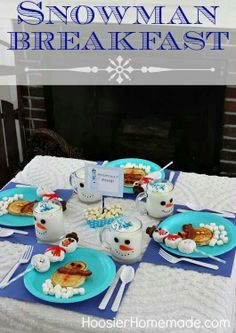 Snowman Breakfast Fun