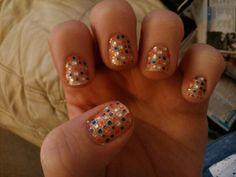 cute gem nails