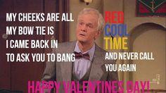 Barney says happy #valentinesday