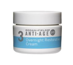 Rodan + Fields ANTI-AGE Overnight Restoration Cream combats wrinkles, enlarged pores and loss of firmness.