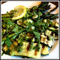 Grilled Veggies with Lemon Herb Vinaigrette