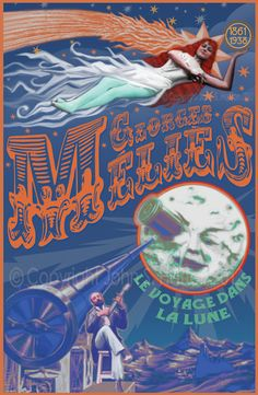 Hugo Georges Melies Fantasy Voyage To The Moon  11 x 17 Art Print Poster SPECIAL SUMMER SALE. $19.00, via Etsy.