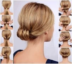 Easy nape knob making at home . Easy nape knob making at home . Work Hairstyles, Braided Hairstyles, Updo Hairstyle, Low Rolled Updo, Medium Hair Styles, Short Hair Styles, Short Hair Updo, Hair Pictures, Hairstyle Pictures