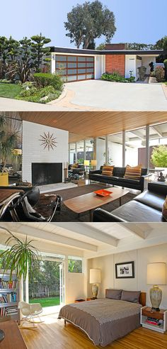 I want garage doors that look like that - California dreaming [mid century modern sunny danish house design]