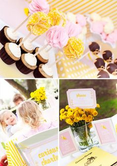 These WONDERFUL cupcake toppers were made for my friend Lorri by Kathy!  I found these on Paiges of Style :)