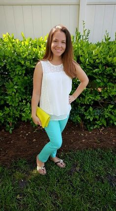 Skies are Blue Sue Eyelet Detail Top Pieces of Me: Stitch Fix Review May 2015